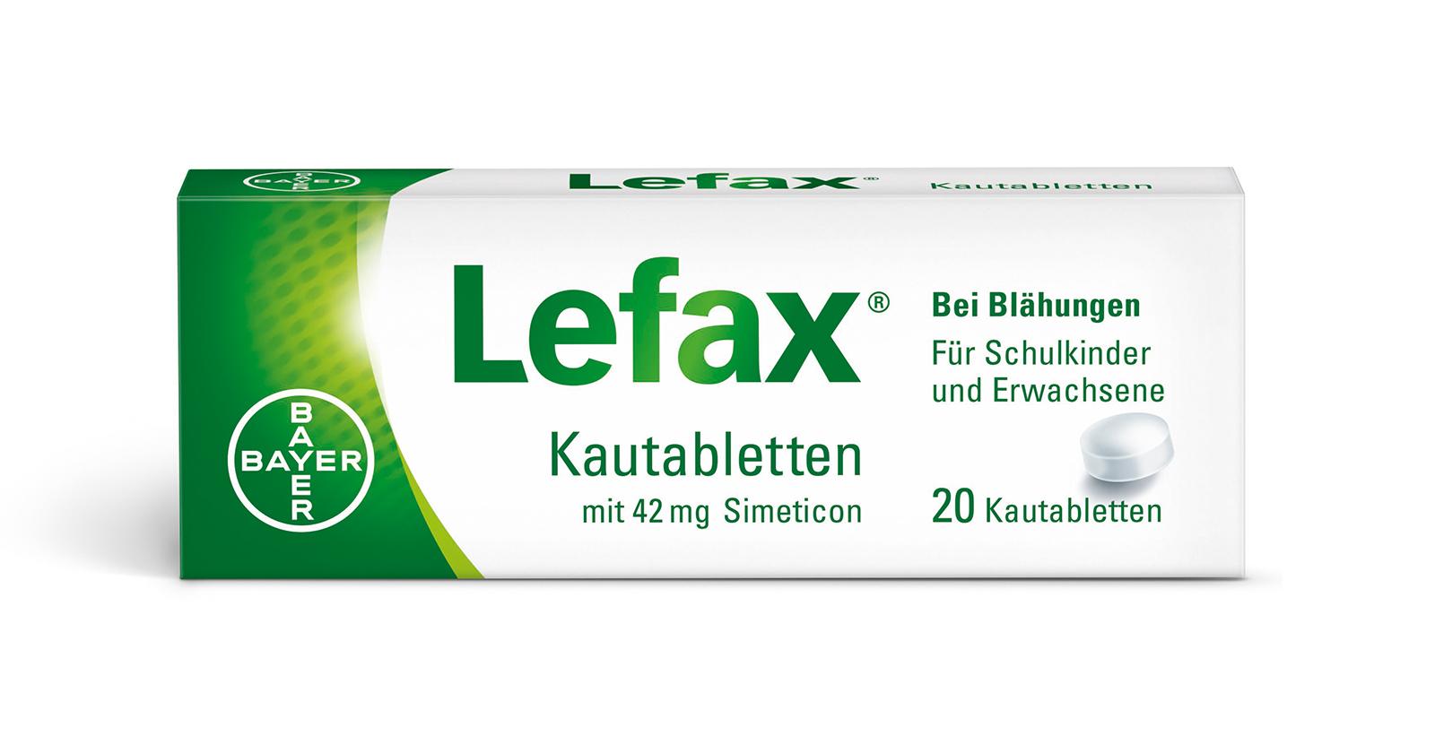 Packshot Lefax Kautabletten