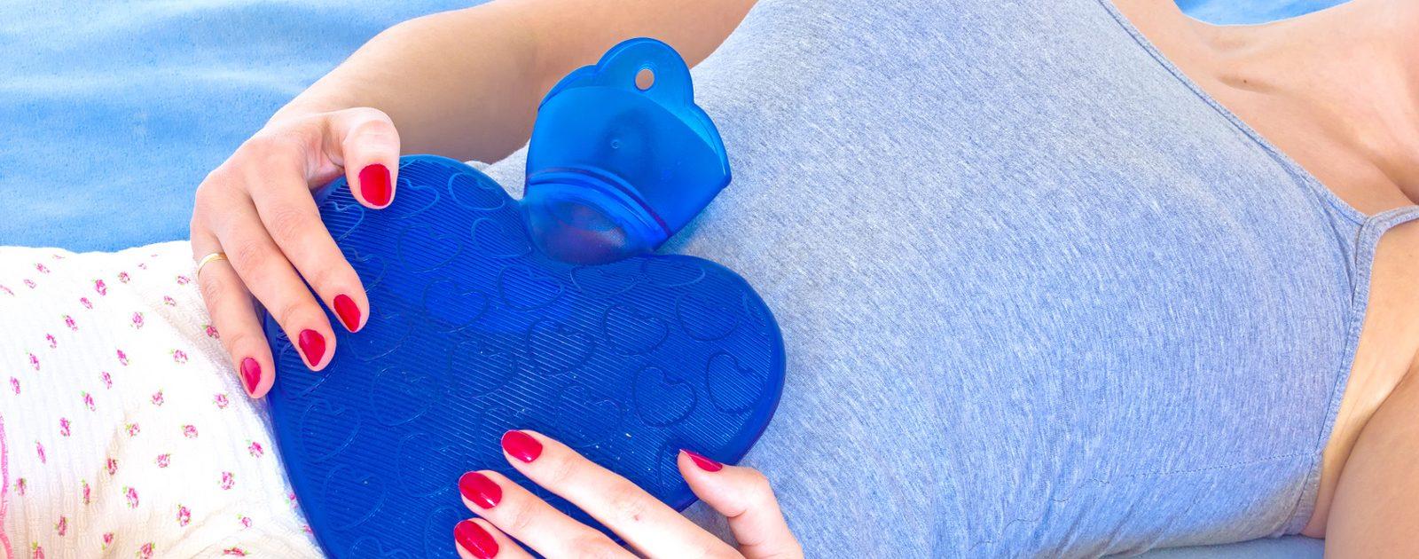 Wärme hilft die Verspannungen im Bauch zu lösen