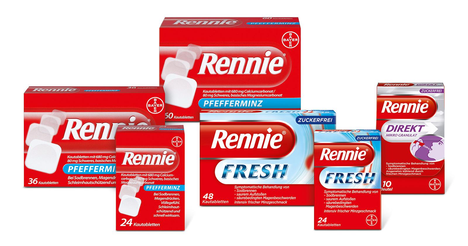 Packshots Produktübersicht Rennie